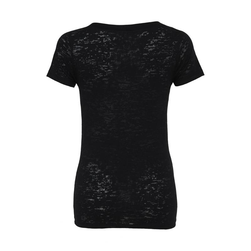 Tee-shirt col V Burnout - Manches courtes