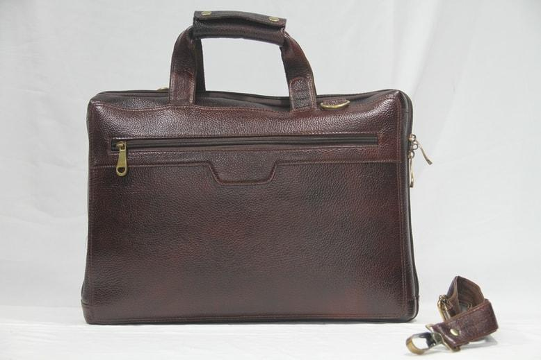 Sleek styled dark brown lapotp bags