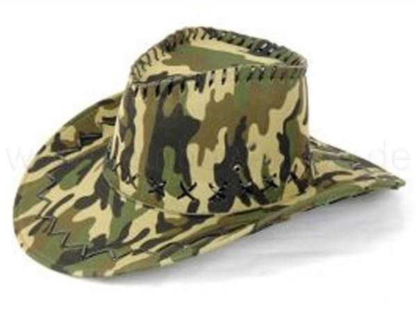 Cowboyhut Design: Camouflage Farbe: oliv, grün - null