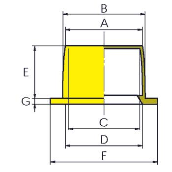 N120 - Capes ou Bouchons renforcés - Bouchons ou capes coiffantes lisses multi-usages