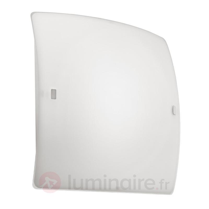 Plafonnier LED blanc BORGO - Plafonniers en verre