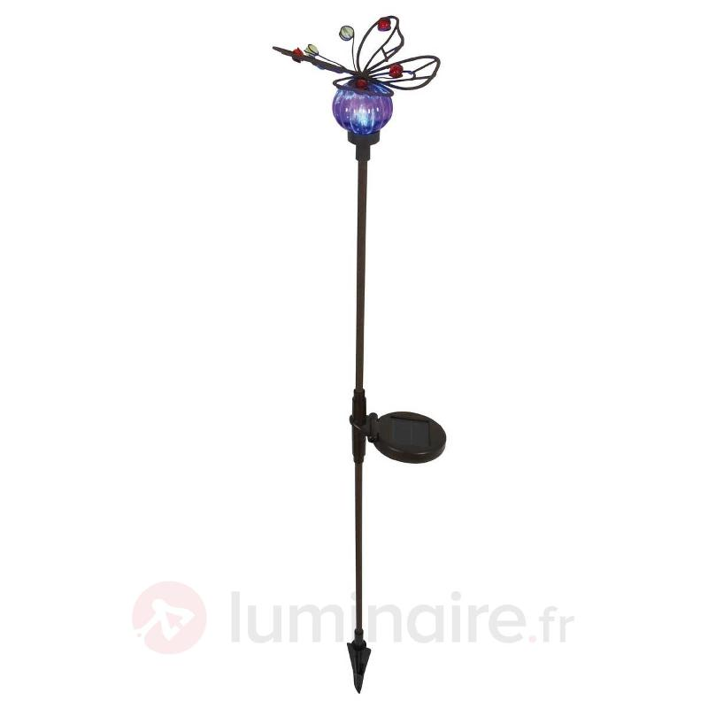 Lampe solaire naturelle Butterfly - Lampes solaires décoratives