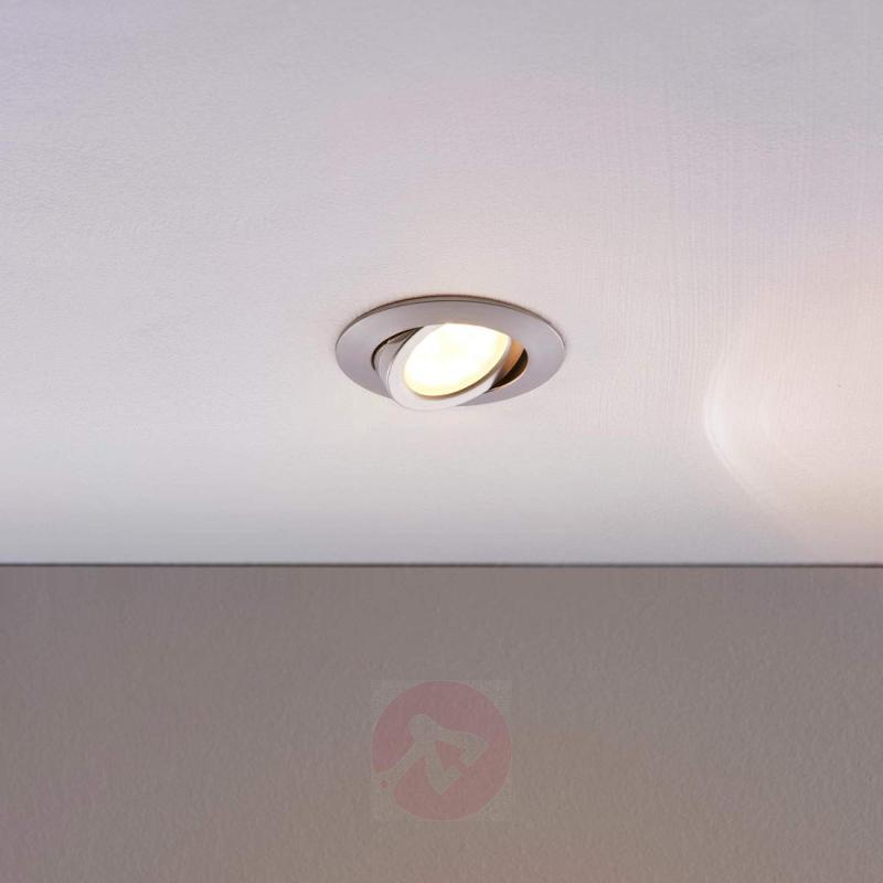 Warm white LED recessed light Andrej, aluminium - indoor-lighting