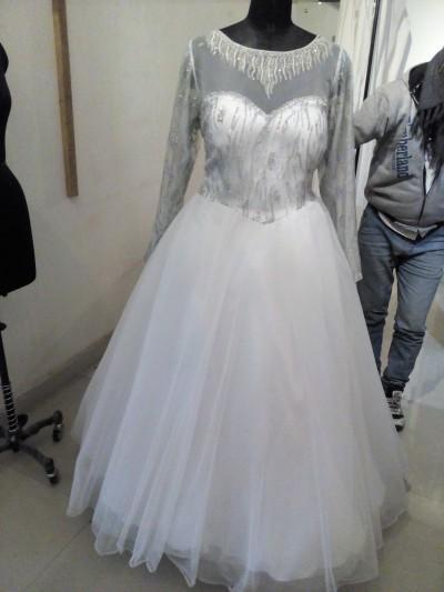 Robe de mariée  - Robe de mariée à manche longue style princesse