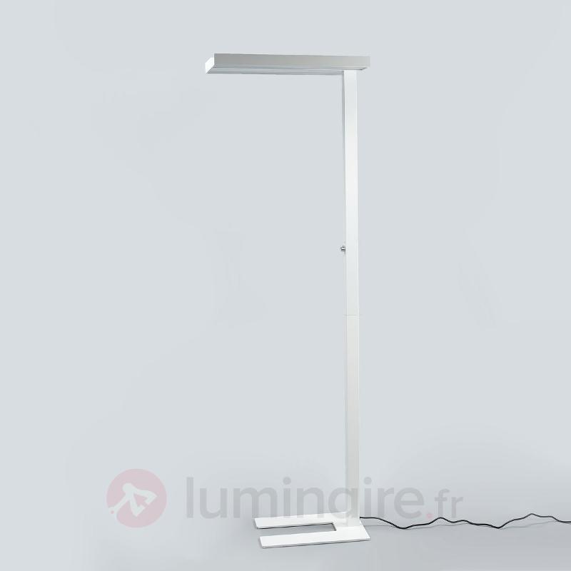lampadaire led bureau logan avec variateur blanc lampadaires directs et indirects luminaire. Black Bedroom Furniture Sets. Home Design Ideas