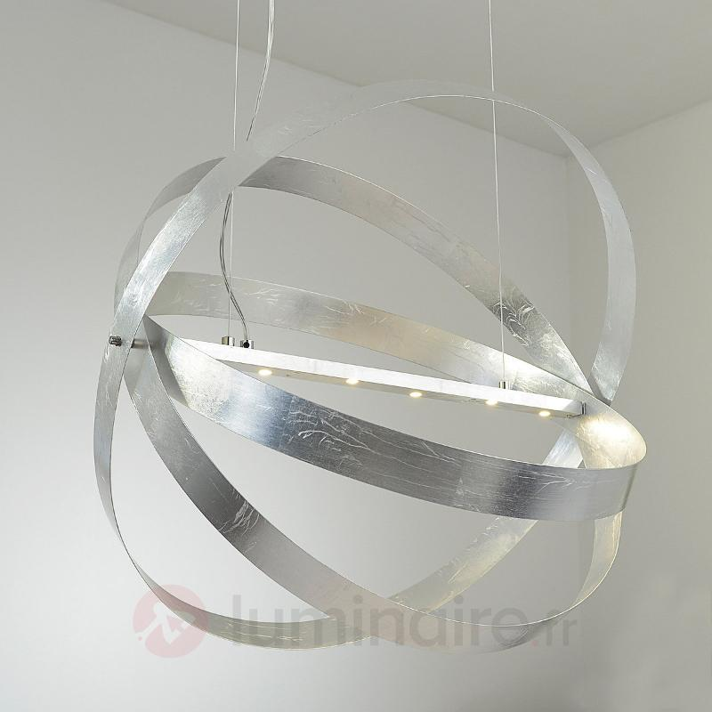 Suspension LED Cara finition argentée - Suspensions LED