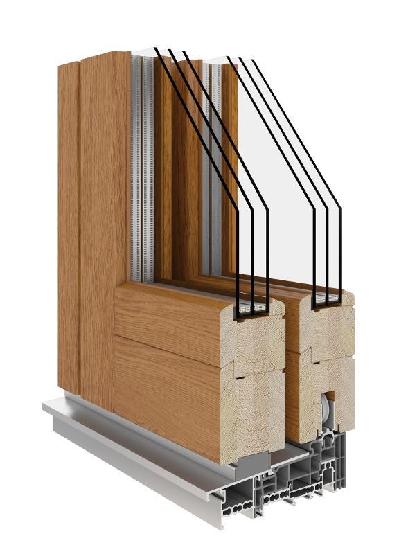 HS (Wooden Sliding Door 68|78|92) - HS Lift & Sliding Patio Wooden Door