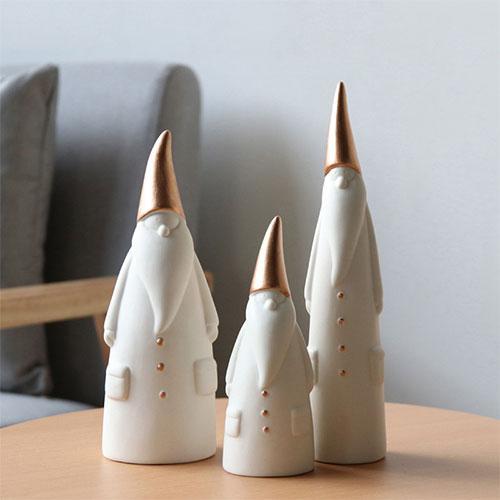 Custom abstract white christmas santa clause figurine - Holiday items(Festival decoration)
