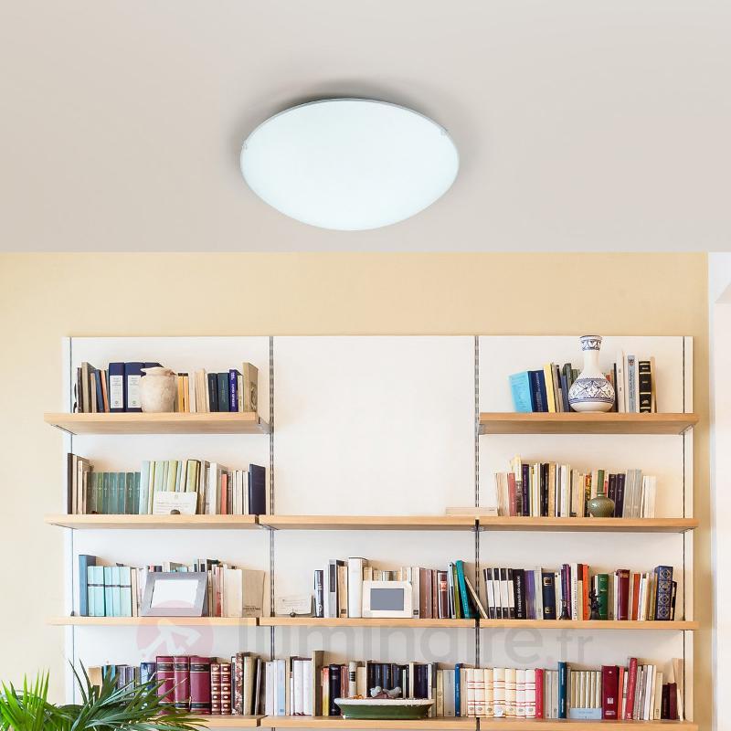 Plafonnier LED blanc Mirna de forme ronde - Plafonniers LED