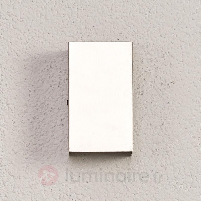 Applique LED Linas en inox à éclairage indirect - Appliques d'extérieur LED