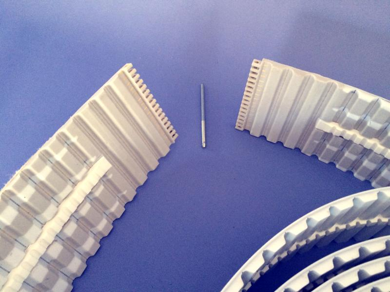 PU timing belt fasteners easy joint - null