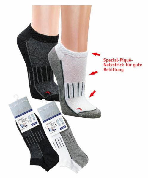 """6939 - """"Air Zone"""" Sneaker Socks - Developed for athlets - Great ventilation by special net-knitting-technique"""