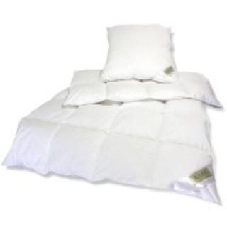 Daunen Betten Set 135x200cm + 80x80cm Kissen 15% Entendaune - null