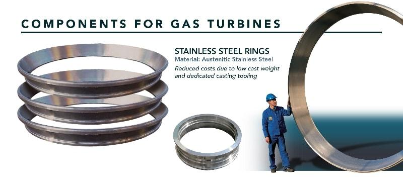 Stainless steel ring - Turbines - components for gas turbines