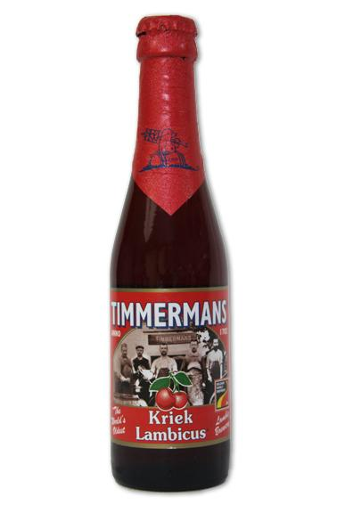 TIMMERMANS Kriek Lambicus Cherry flavour fruity beer, 4% alcohol - null