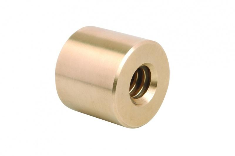 Trapezoidal thread - Trapezoidal thread round or flange nuts RH thread, single-start. Gunmetal Rg7
