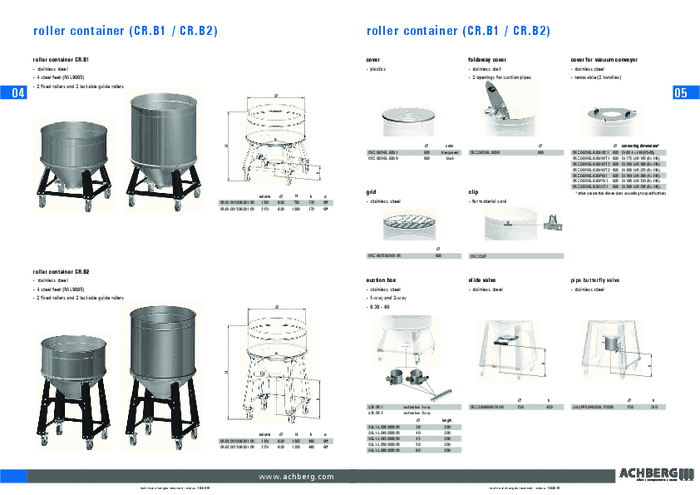 achberg container - roller container (CR.B1 / CR.B2)