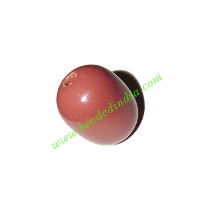 Wooden Dyed Beads, painted in one color, size 15x20mm, weigh - Wooden Dyed Beads, painted in one color, size 15x20mm, weight approx 2.28 grams