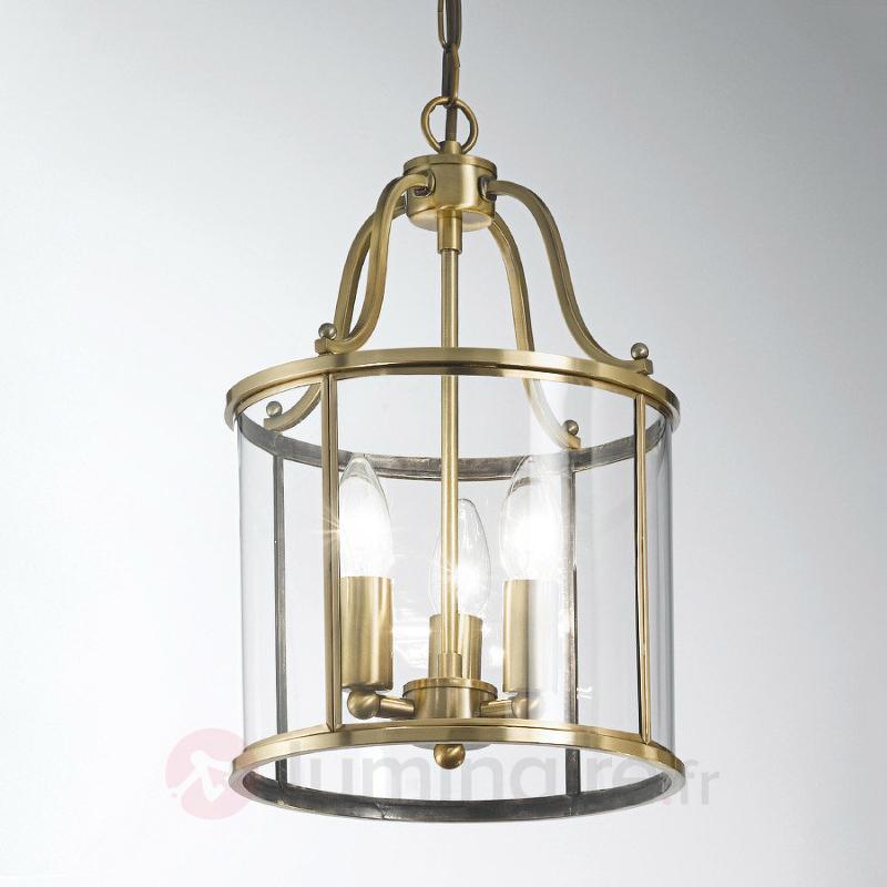 Suspension Rieka 25 cm, en forme de lanterne ronde - Suspensions classiques, antiques