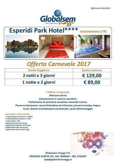 CARNEVALE 2017 ESPERIDI PARK HOTEL CASTELVETRANO TRAPANI