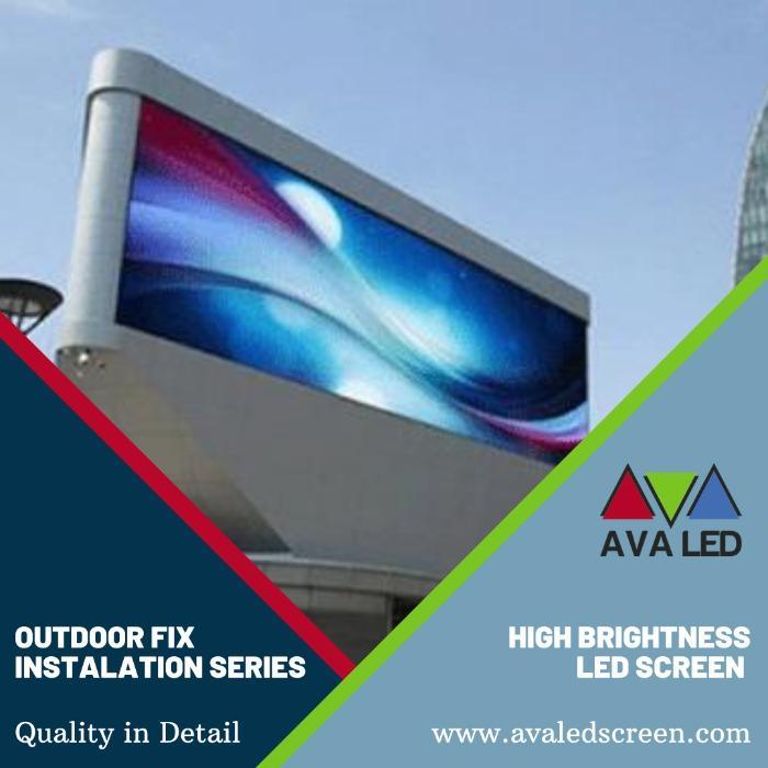 Tela LED de anúncios de rua - Totem Led AVA e displays de pôster