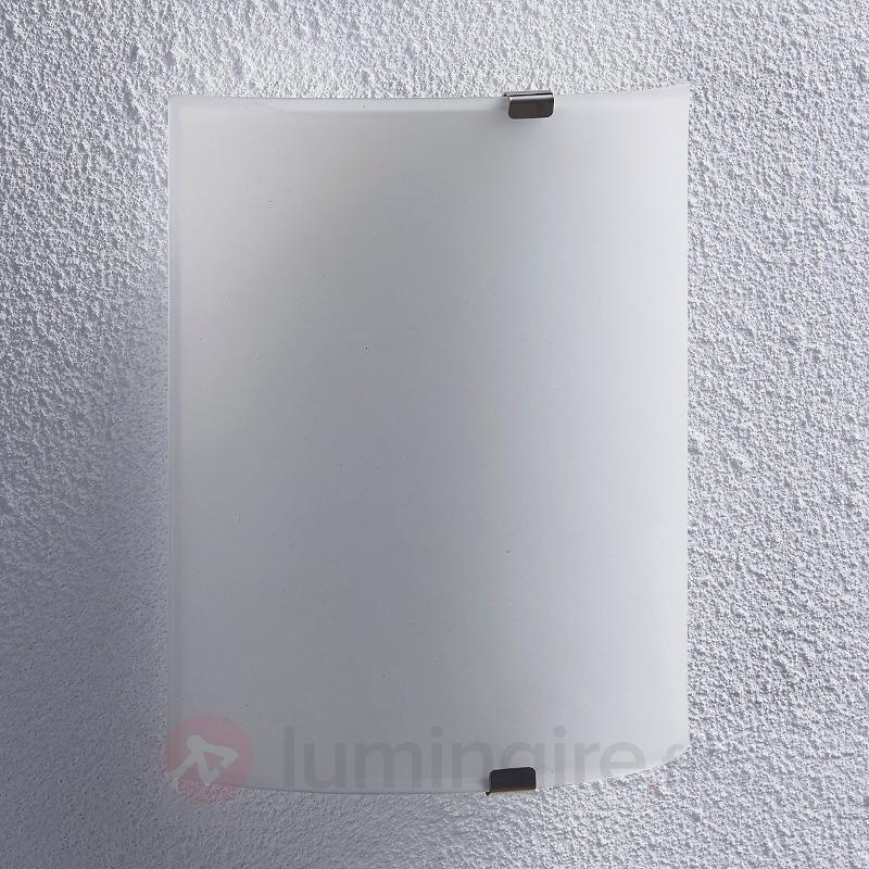 Applique semi-circulaire LED Helmi, verre - Appliques LED