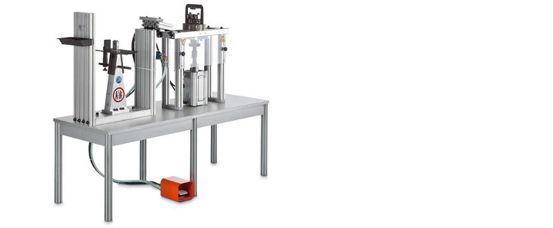 Machine for attaching hinges and clasps  - Combined Machines