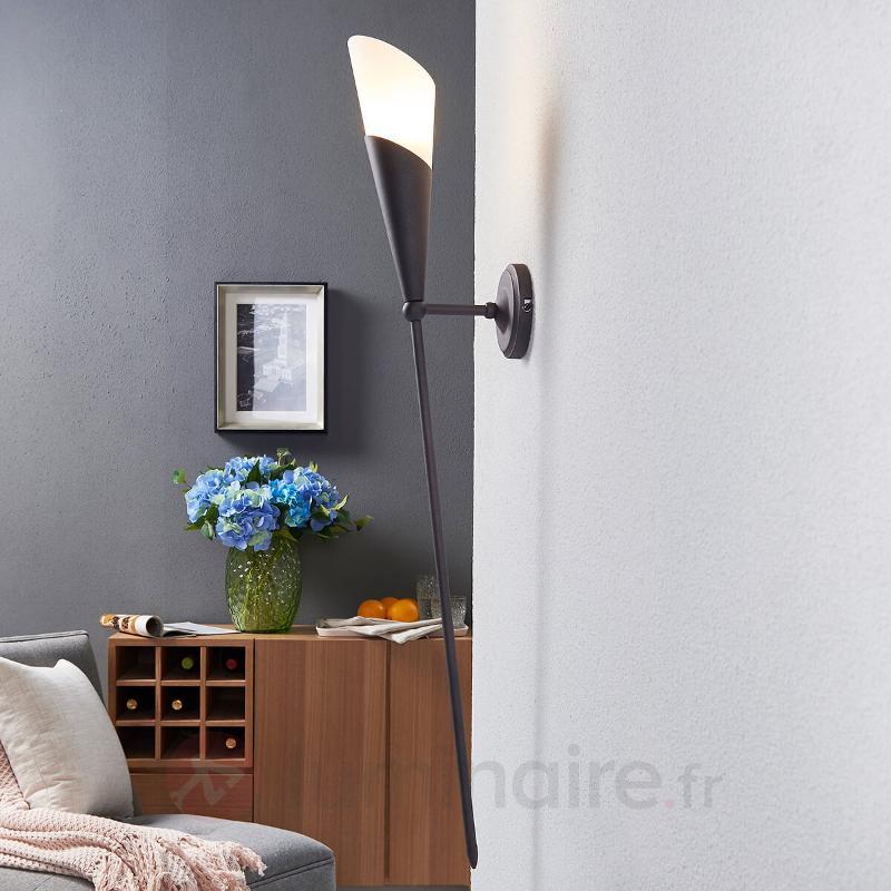 Torche murale brun rouille Estelle - Torches murales