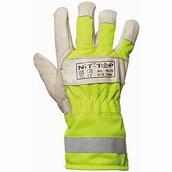 High-Vis-Rindsvolllederhandschuh Winter
