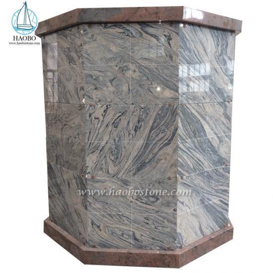 Haobo Stone 96 Niche Octagonal Community Cremation Columbarium - Columbarium