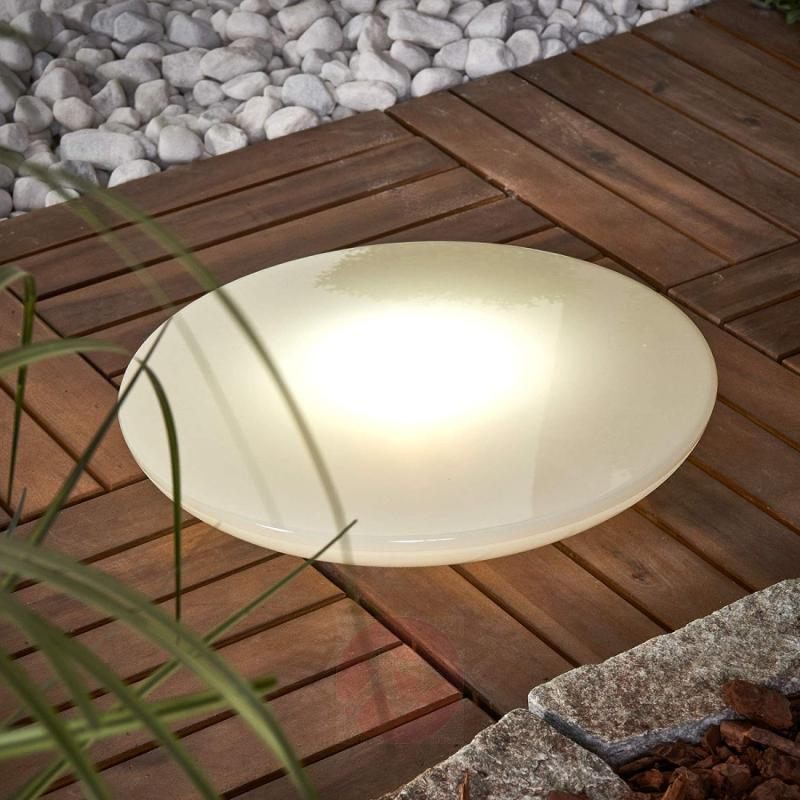 Bowl - flat, decorative LED solar light, 30 cm - outdoor-led-lights