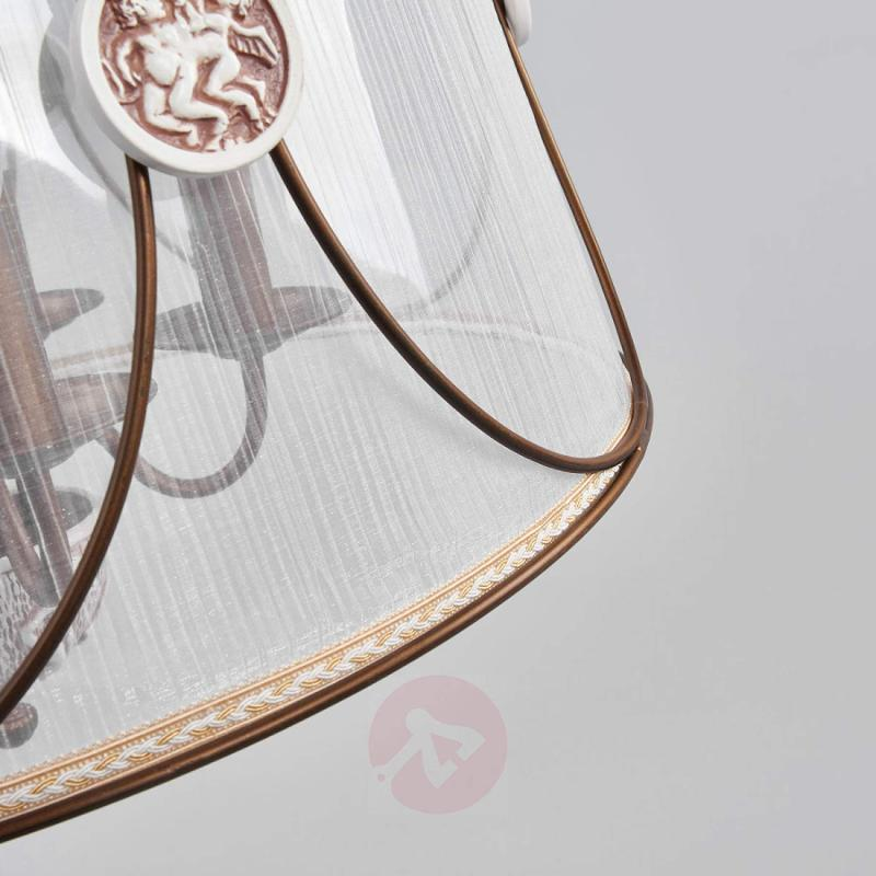 Hanging lamp Letizia, translucent organza shade - design-hotel-lighting