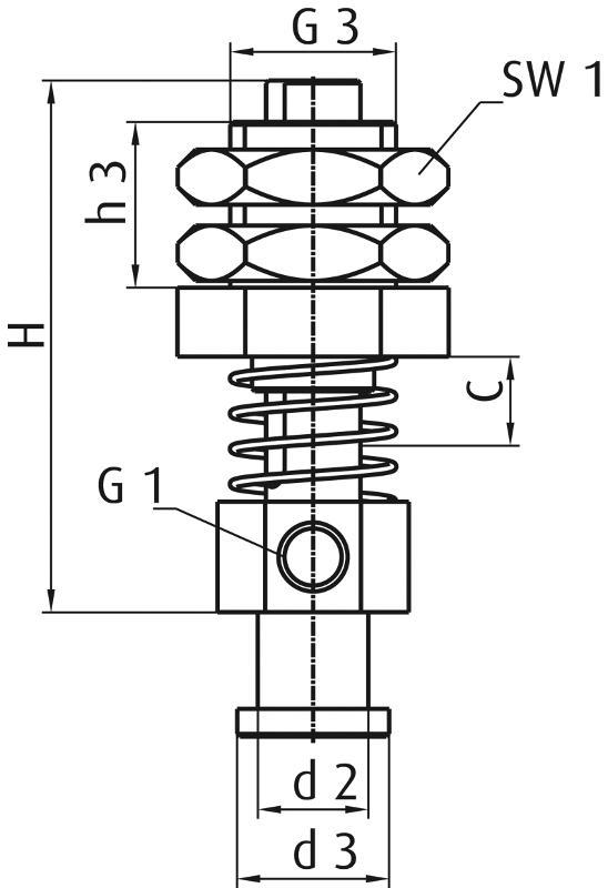 Federstößel für direkte Saugermontage - Feder offen -... - null