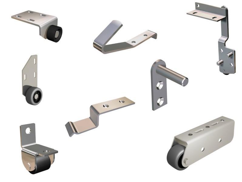 Колесные опоры в ассортименте - Ролики, колесные опоры различных конструкций и назначений.