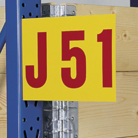 Aisle Sign angled - with self-adhesive tape, 1 side printed