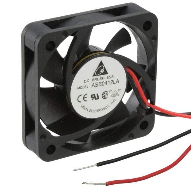 FAN AXIAL 40X10MM 12VDC WIRE - Delta Electronics ASB0412LA-A