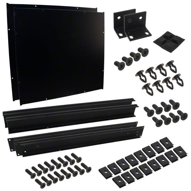 "CHASSIS 18X16.6X1.8"" BLACK - Hammond Manufacturing RM1U1918SBK"