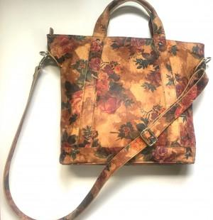 Ladies bag in Printed Leather -