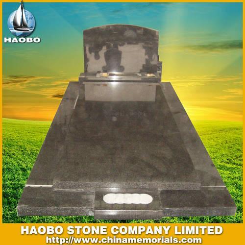 blue granite headstone HBMAU013 - Australian Tombstone