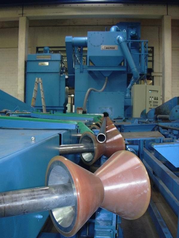 Granalladora diábolo - Granalladora diábolo para descascarillar y desoxidar tubos y piezas redondas