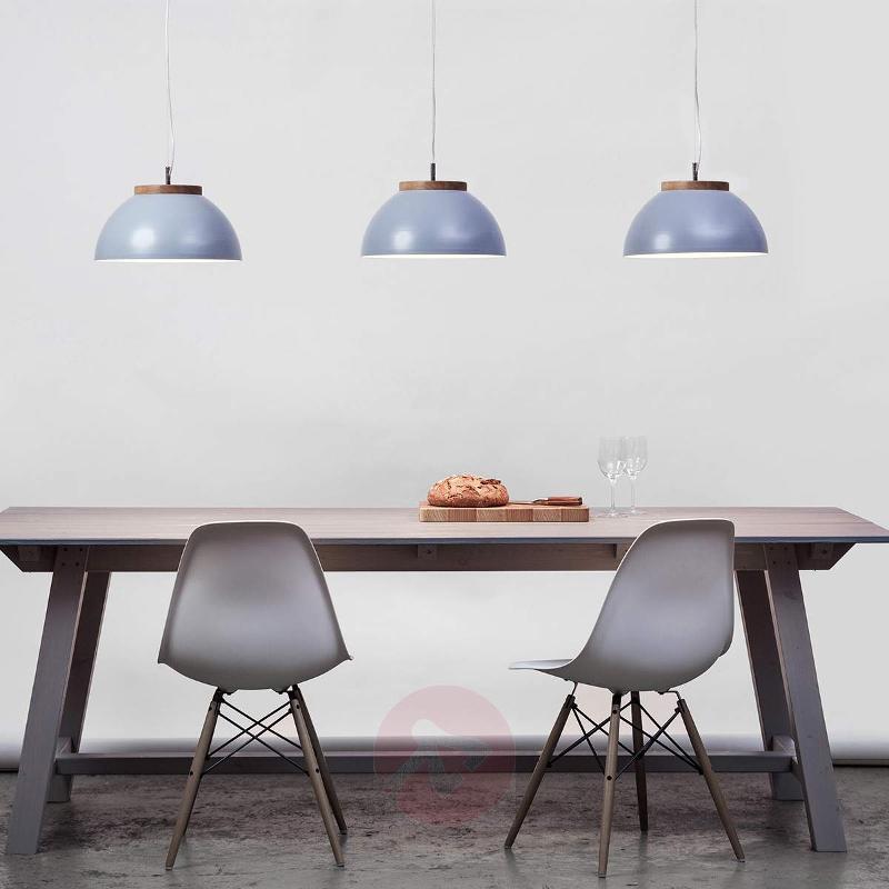 Matt silver-grey designer hanging lamp Dub - Pendant Lighting