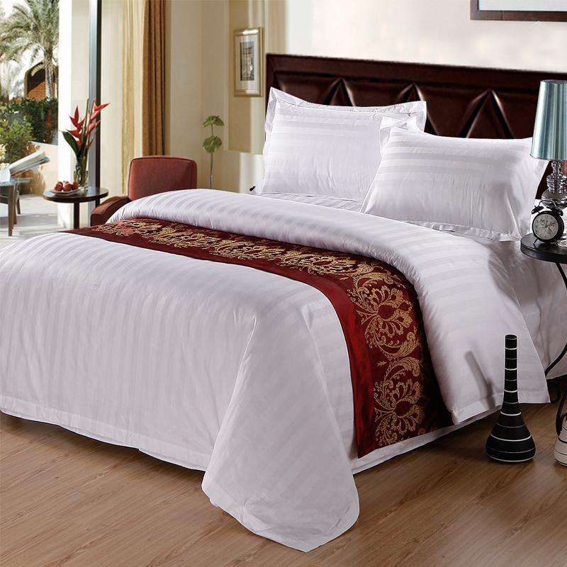 Duvet Cover 300TC 10pcs pack - JOSHUA 3cm Satin Strips Cotton