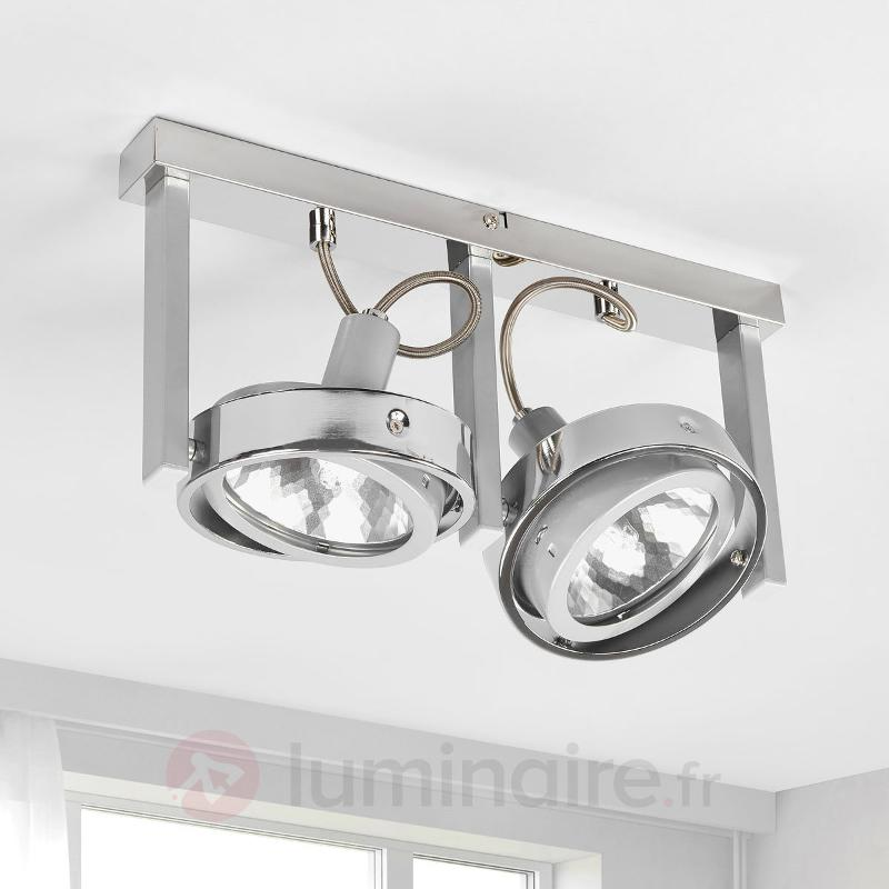 Petit plafonnier Kuriana avec 2 spots - Spots et projecteurs halogènes