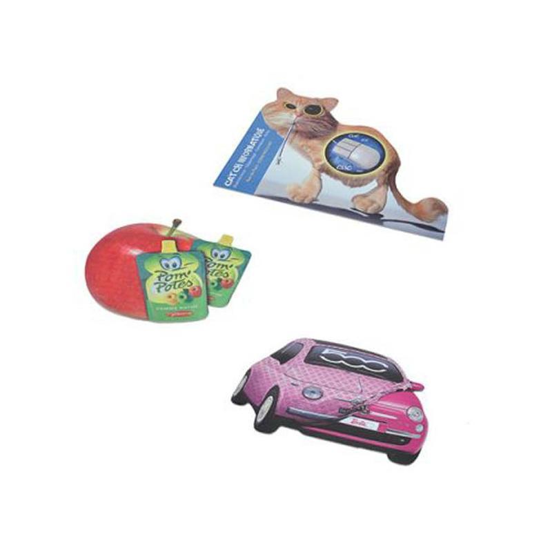 Tapis de souris anti-dérapant blanc/gris - Tapis de souris publicitaires