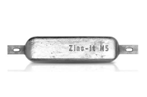 Ânodo de zinco para protecção catódica - Ânodos de casco N5