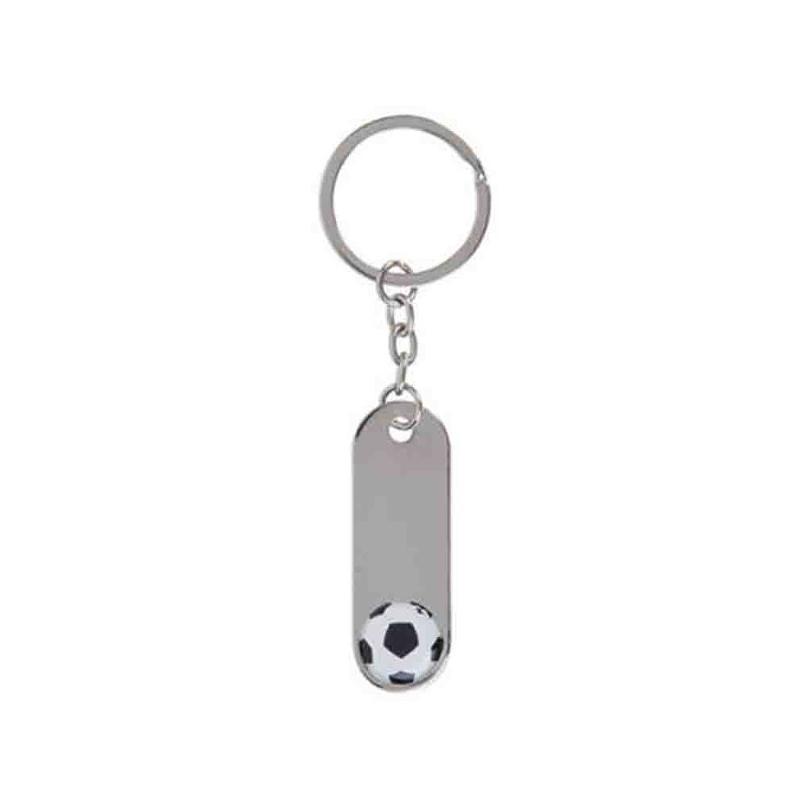 Porte-clés foot métal brillant - Porte-clés métal