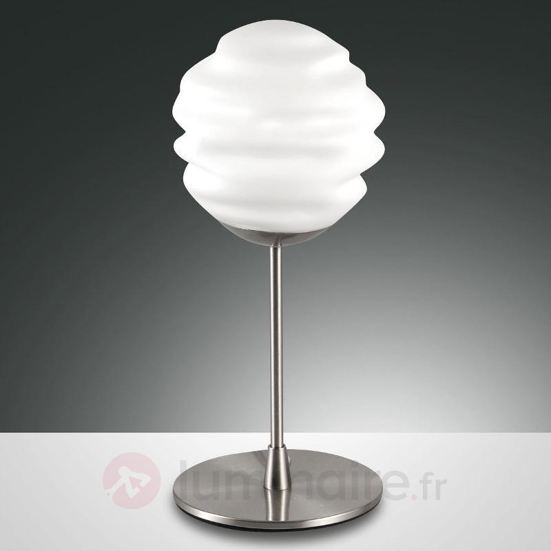 Ava - lampe à poser décorative abat-jour en verre - Lampes de chevet