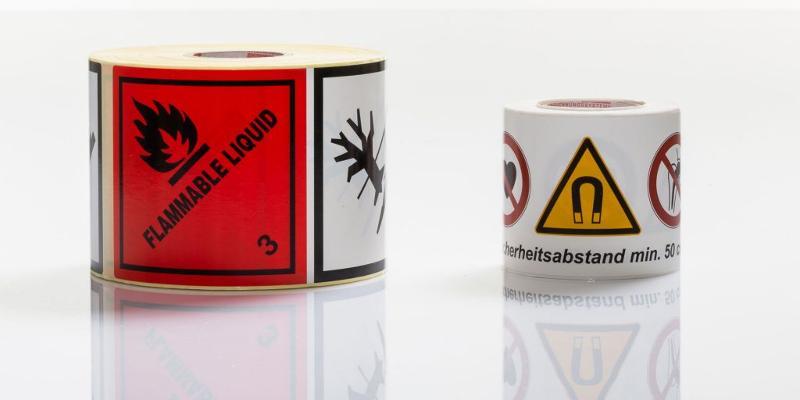 Etiketten für Industrie & Handel