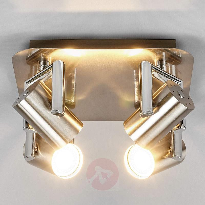 Nickel Luciana LED kitchen spotlight, 4-fl. - Ceiling Lights
