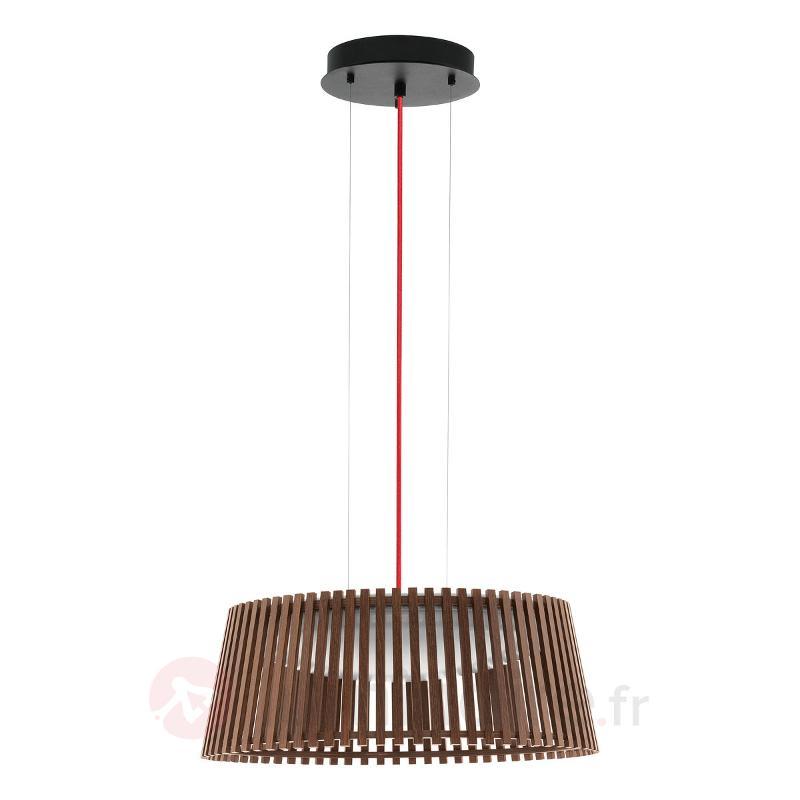 47 cm - la suspension LED Roverato noyer, blanc - Suspensions en bois